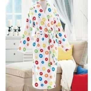 M&M's candy plush super soft & fluffy robe Rare